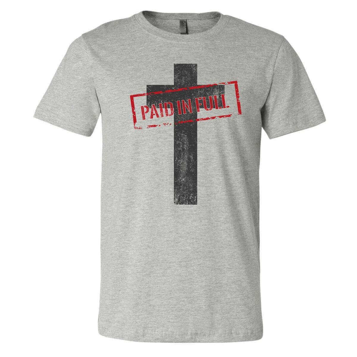 Paid In Full Cross Christian Jersey T-Shirt